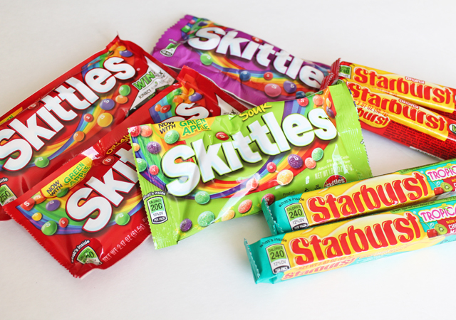 This 30-count pack is perfect for us to make teacher gifts and treats for my daughter's preschool party. Skittles and Starburst are such colorful candies, ...