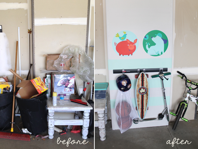 before and after garage space