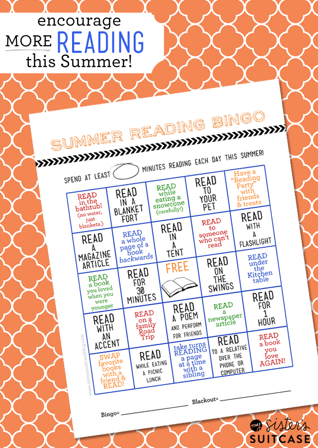 image relating to Printable Bingo Cards for Kids referred to as Summertime Examining Bingo Card + Printable Blog site Hop - My Sisters