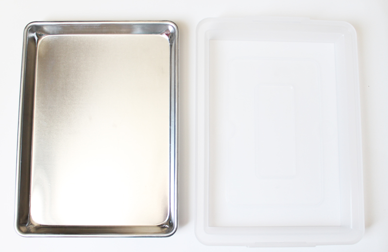 cookie sheet and lid