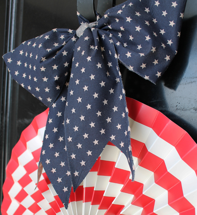 star fabric bow