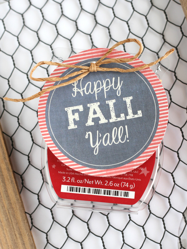 Happy Fall gift tag