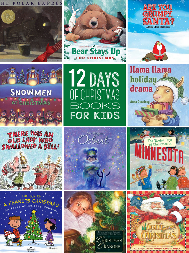 12 days of Christmas books for kids