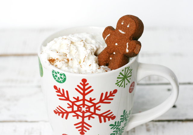 add-gingerbread-marshmallow-to-cocoa