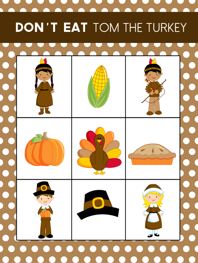 photograph regarding Don't Eat Pete Printable called Printable Thanksgiving Video game : Dont Try to eat Tom! - My Sisters