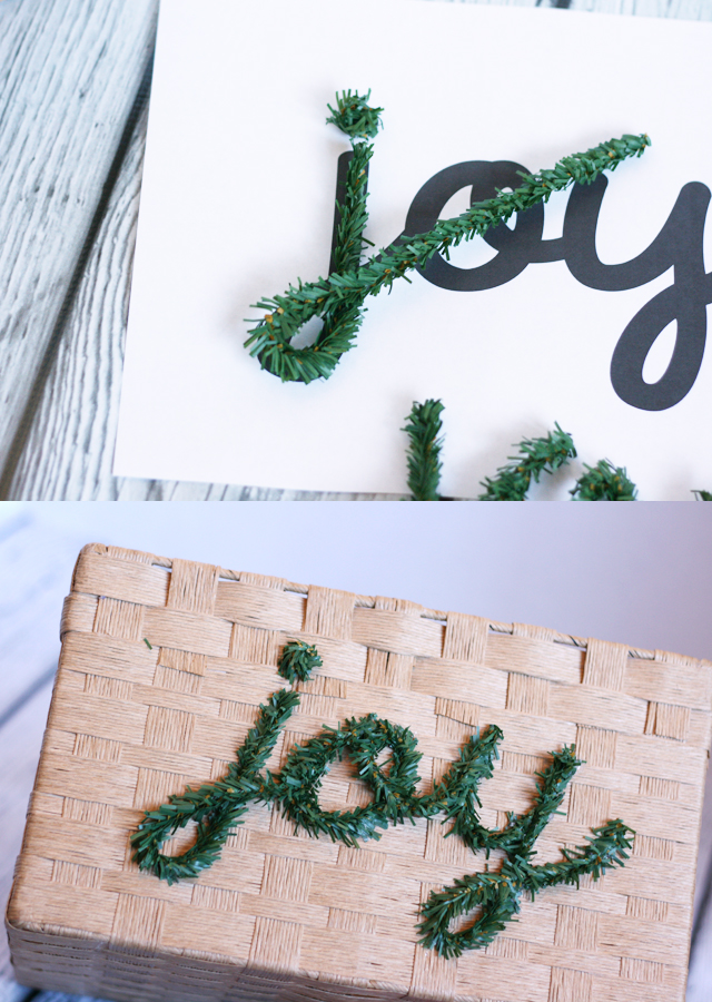 how-to-make-wired-pine-letters