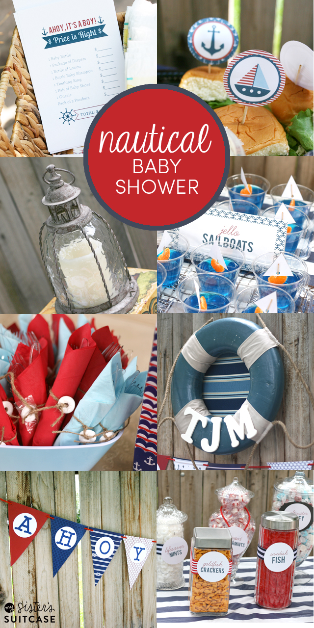 A Baby Shower For Her Oldest Daughter With Such Fun Theme Nautical Is Trend Right Now So It Was Easy To Incorporate In The Party Decor And