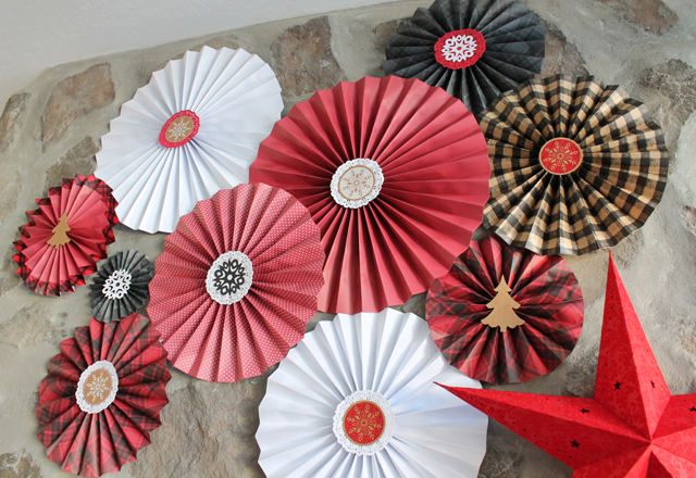 paper medallions made with Recollections holiday paper