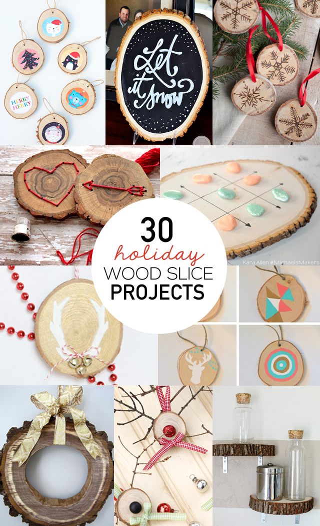 30 Wood Slice Projects Christmas