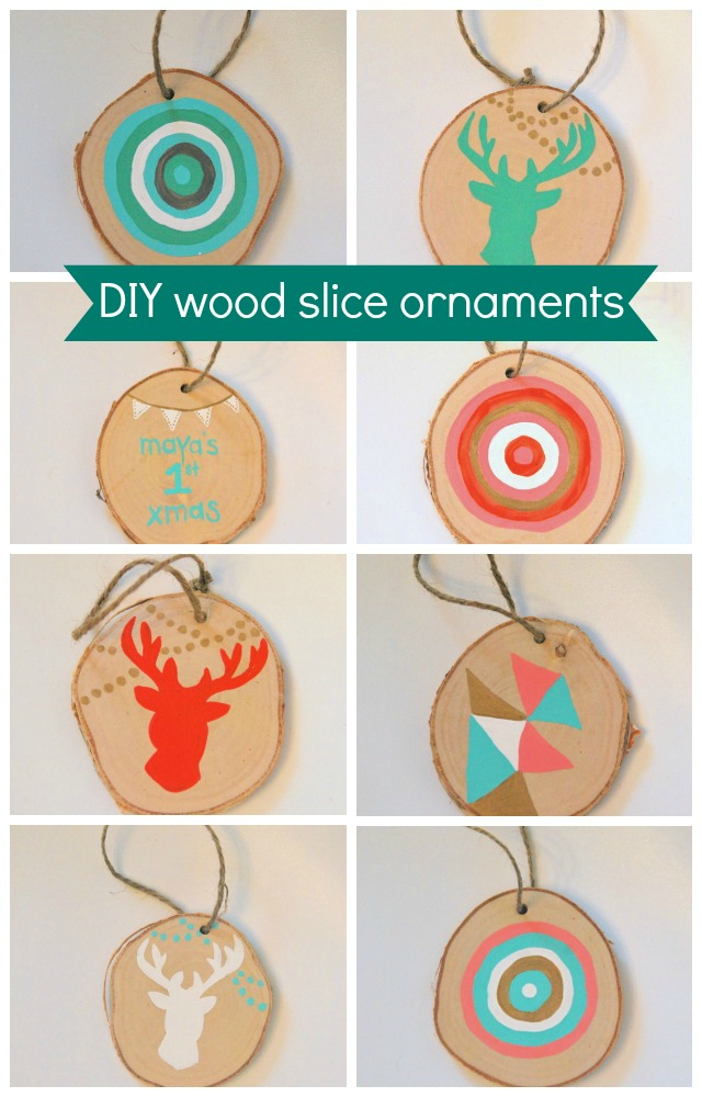 30 wood slice projects for the holidays - my sister u0026 39 s suitcase