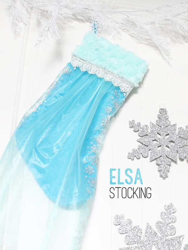 Elsa Christmas stocking