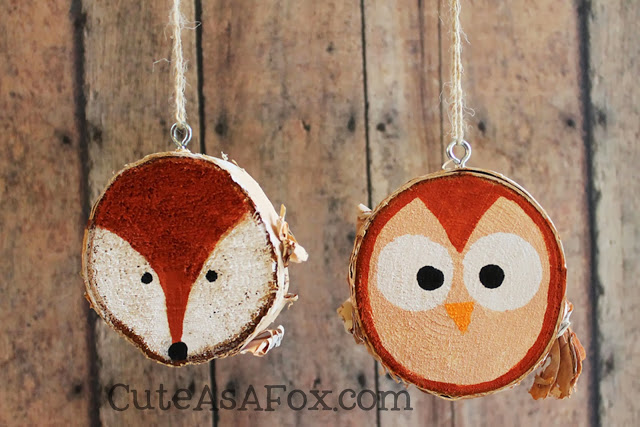 Rustic-woodland-ornaments-fox-owl