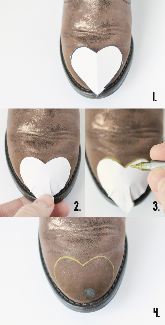 how to make glitter toe boots_1