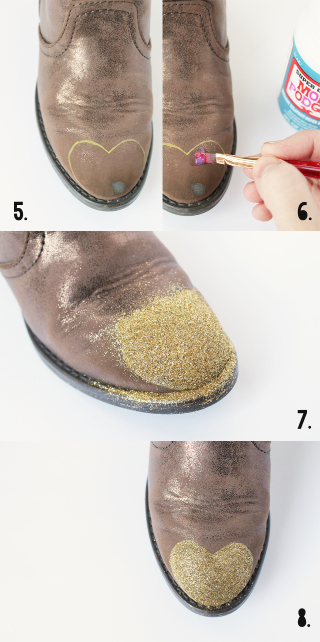 how to make glitter toe boots_2