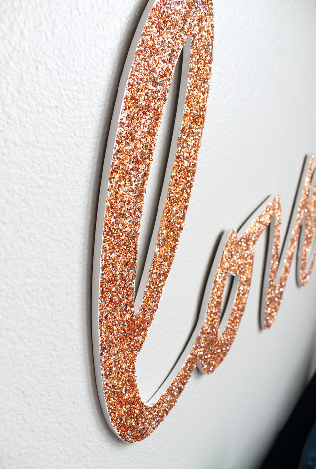 copper glitter love_closeup