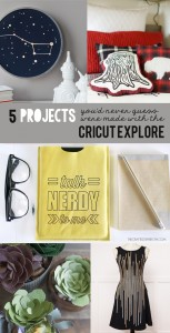 5 projects with the Cricut Explore