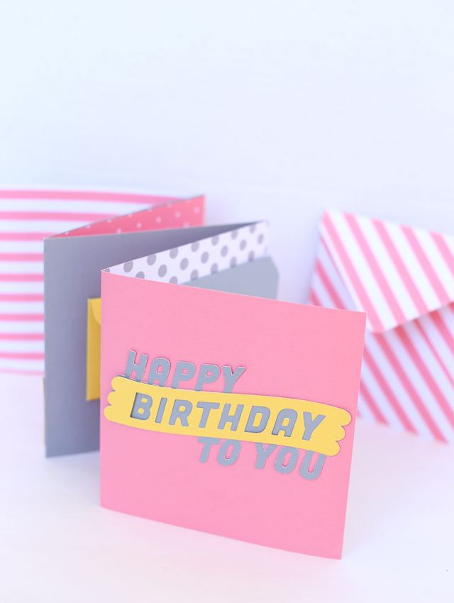 Envelope Birthday Book With 1 2 3 Punch Board