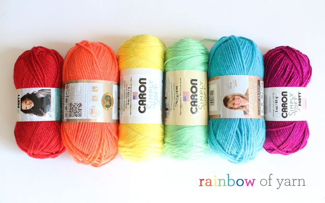 rainbow of yarn
