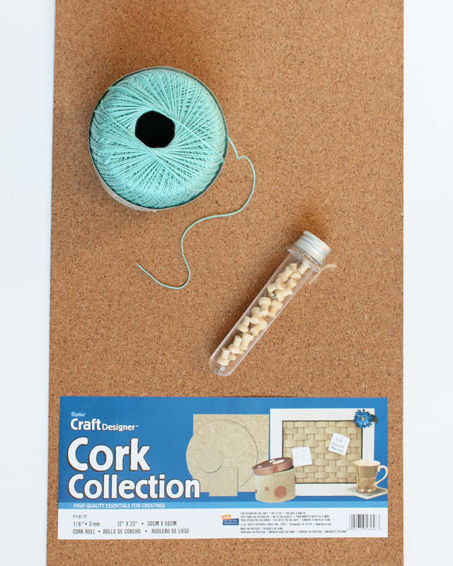 string art corkboard supplies