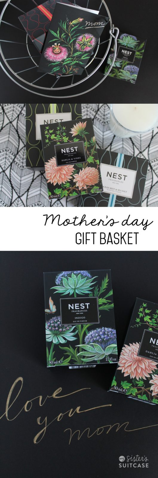 mothers day fragrance gift basket