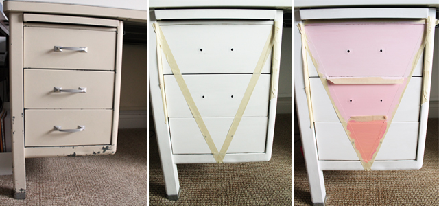Desk Makeover With Chalky Finish Paint My Sister S Suitcase