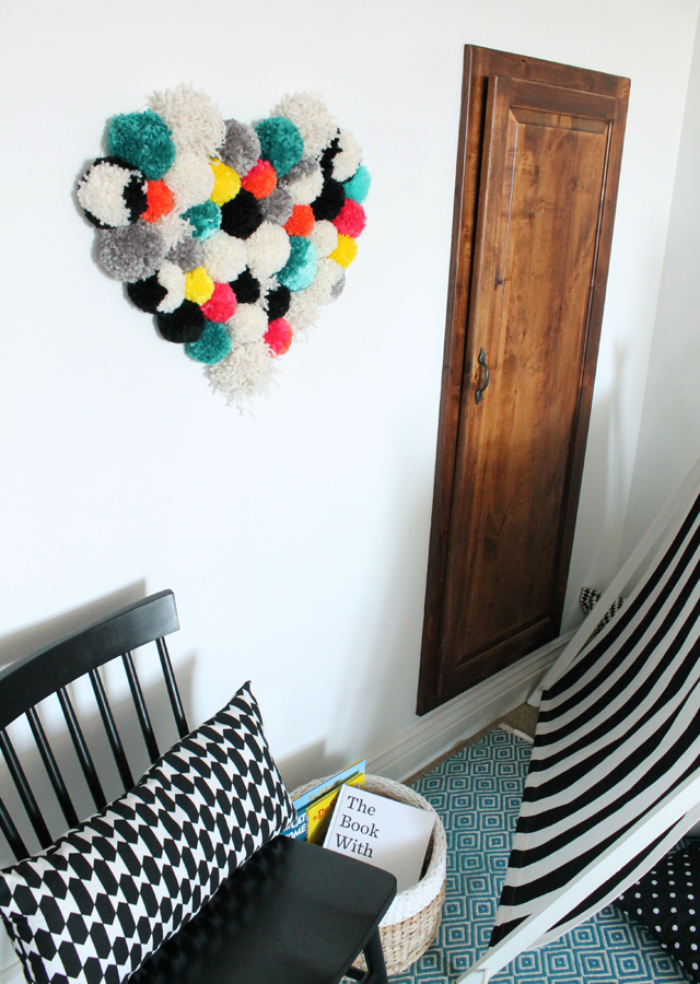 retro pom pom wall art