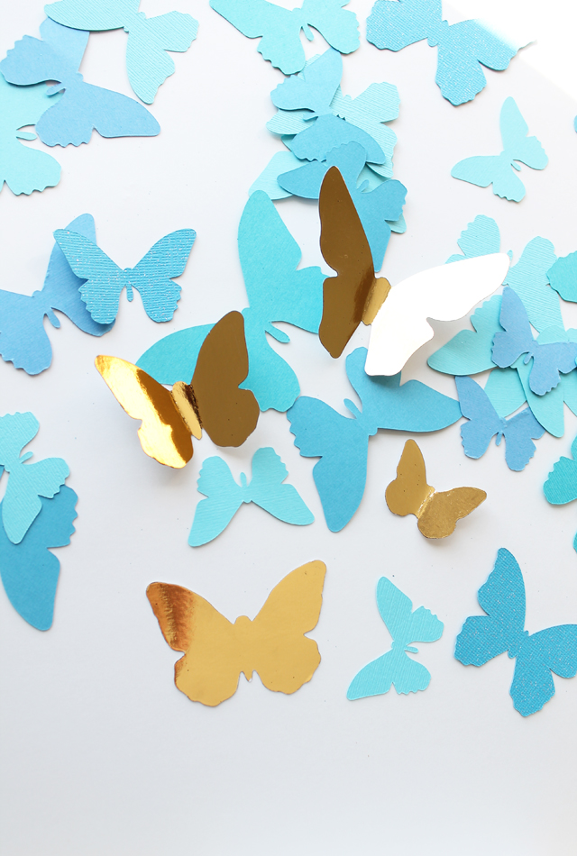 foiled Minc butterflies