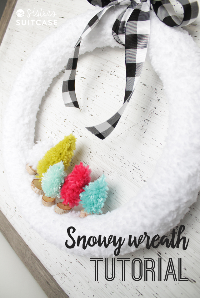 Christmas snowy wreath tutorial