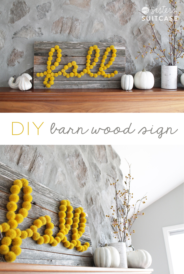 diy barn wood sign