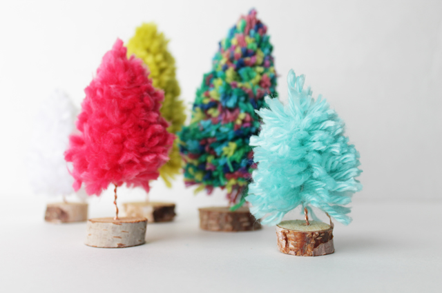 diy yarn tree tutorial