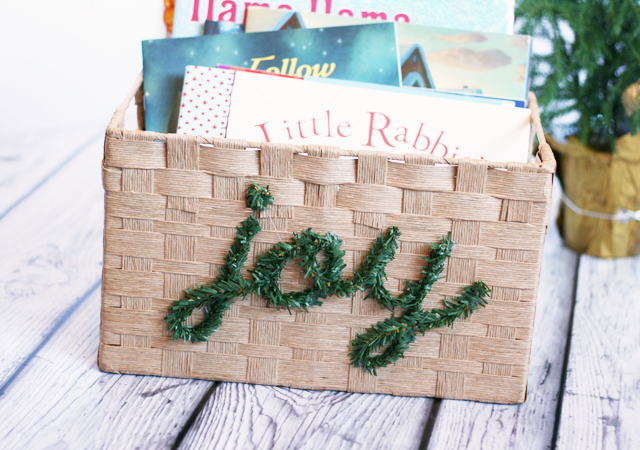 DIY Christmas Book storage