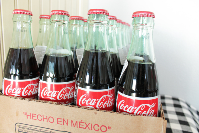 24 pack of Coca Cola glass bottles