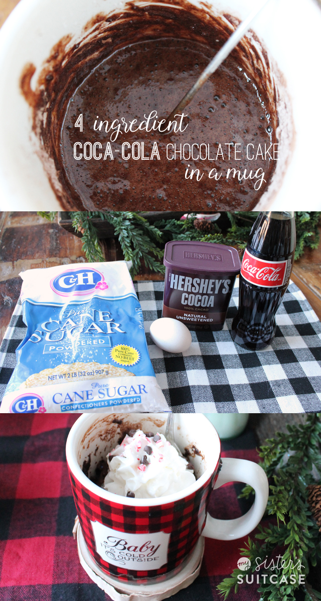 Coca-Cola cake in a mug recipe