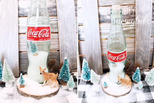 DIY Glass bottle Snowglobe