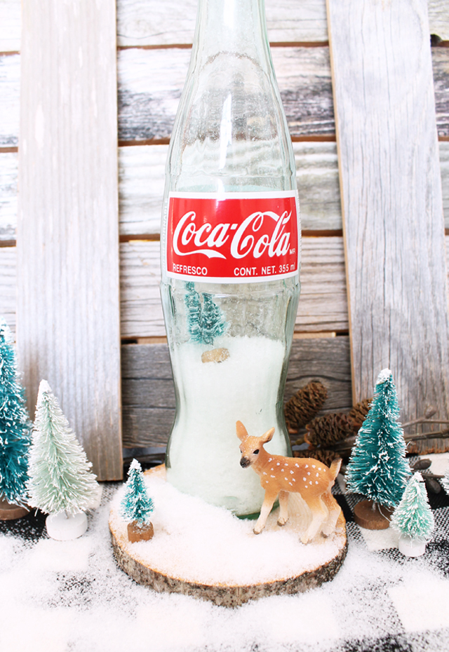 Snowglobe with Glass Coke bottle