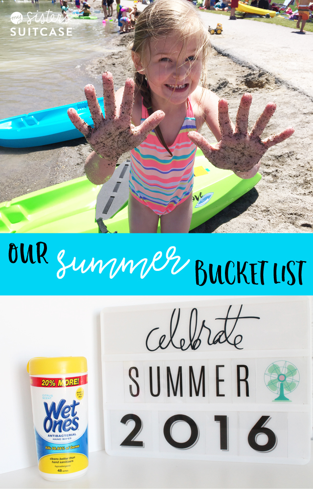 Summer Bucket List with Wet Wipes