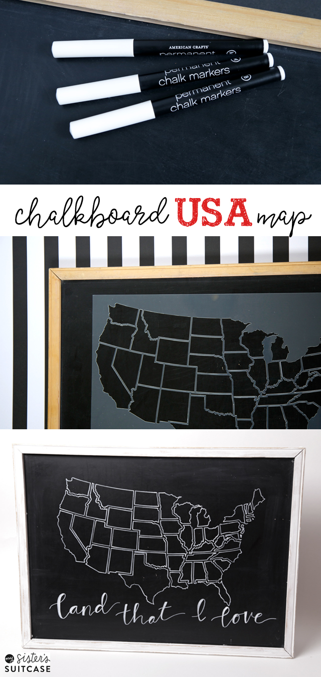 chalkboard-USA-map-decor
