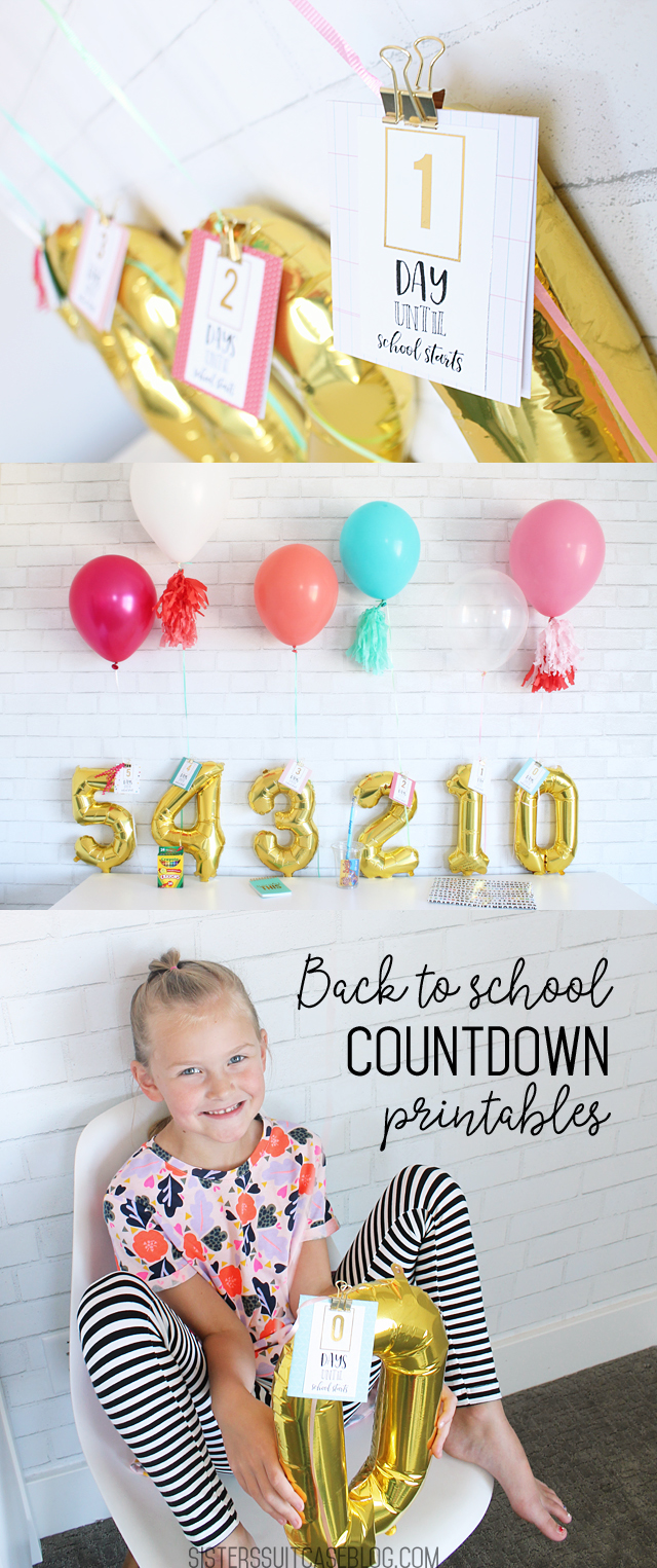 Back to school countdown printables